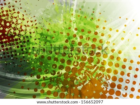 Bright grunge vector background - stock vector
