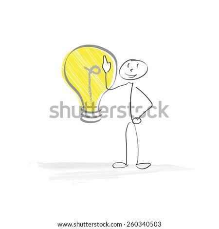 Bright Idea - stock vector