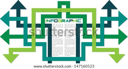 Bright infographic arrows in vector format.  - stock vector