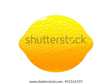 bright juicy tasty green lemon cartoon isolated - stock vector