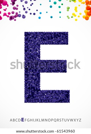 Bright letter E from the alphabet (eps10) - stock vector