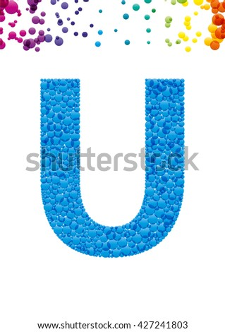 Bright letter U from the alphabet (eps10) - stock vector