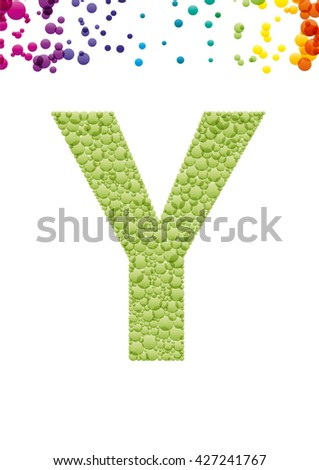 Bright letter Y from the alphabet (eps10) - stock vector