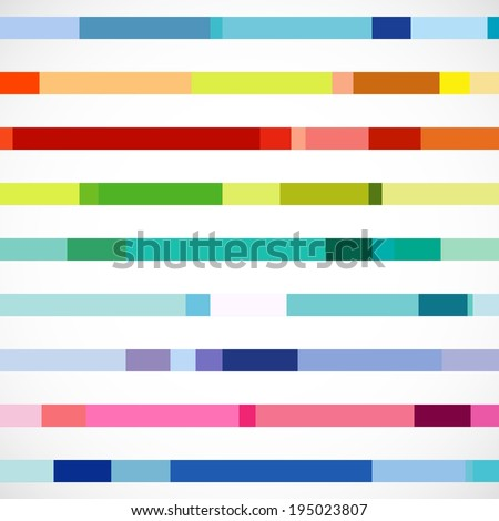 Bright Lines, Design Elements - stock vector
