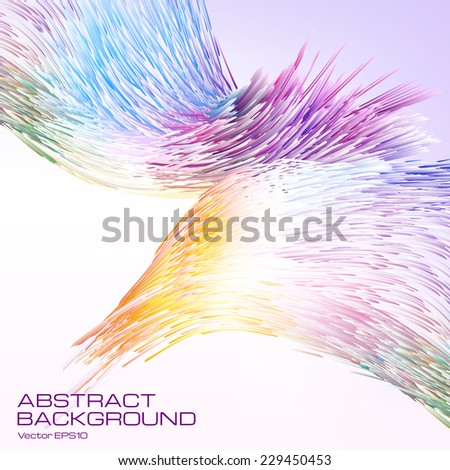 Bright multi-color picturesque  abstract background.The illustration contains transparency and effects. EPS10  - stock vector