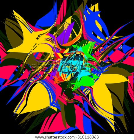 Bright multicolor background. Abstract grange vector illustration. - stock vector