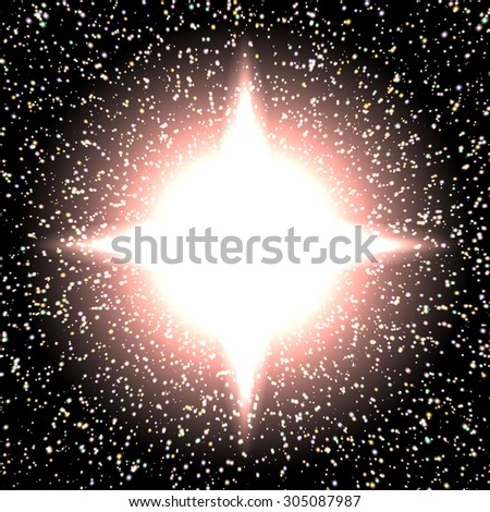 bright night background with stars and lights vector 3 - stock vector