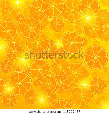 Bright oranges background - stock vector