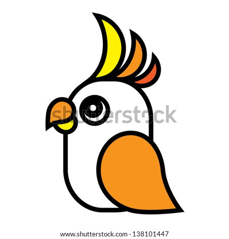 Bright parrot. - stock vector