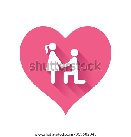 Bright pink heart shape icons of love relationships for Valentines Day design - stock vector