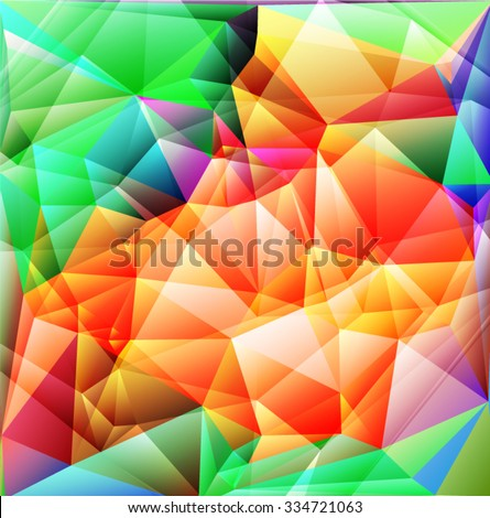 Bright polygon abstract background. Vector EPS 10 illustration. - stock vector