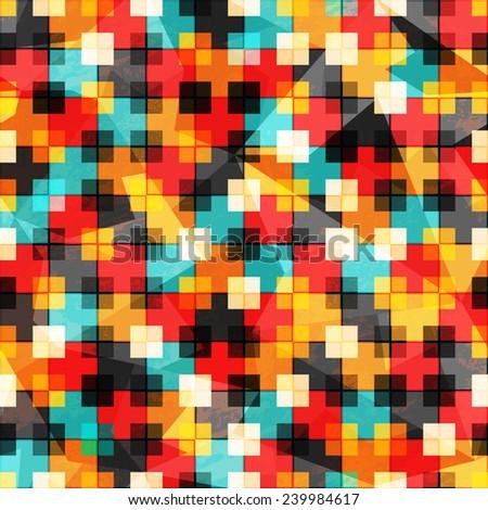 bright rainbow seamless pattern - stock vector