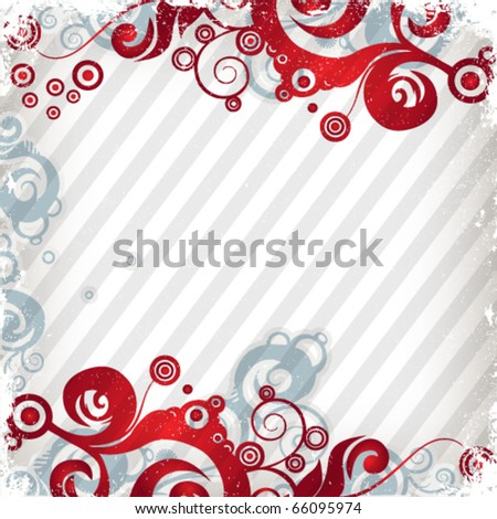 Bright red grunge background - stock vector