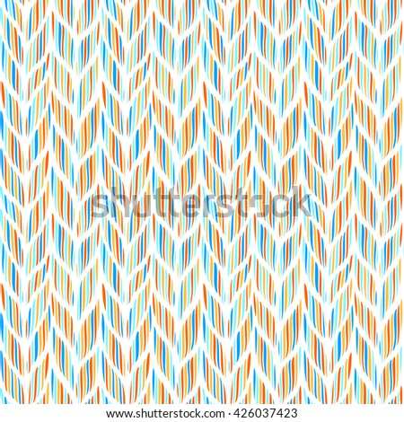 Bright seamless background with waves, vector illustration - stock vector