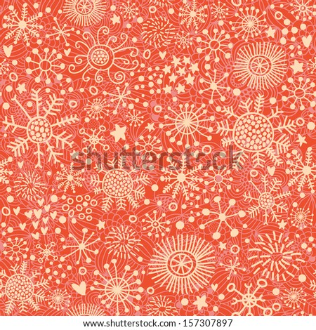 Bright seamless pattern made of snowflakes in vector. Seamless pattern can be used for wallpapers, pattern fills, web page backgrounds,surface textures. Gorgeous winter pattern - stock vector