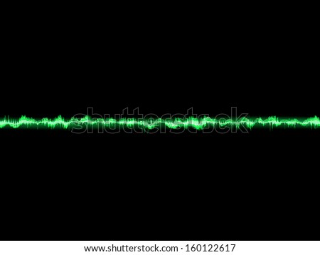 Bright sound wave on a dark green background. EPS 10 vector file included - stock vector