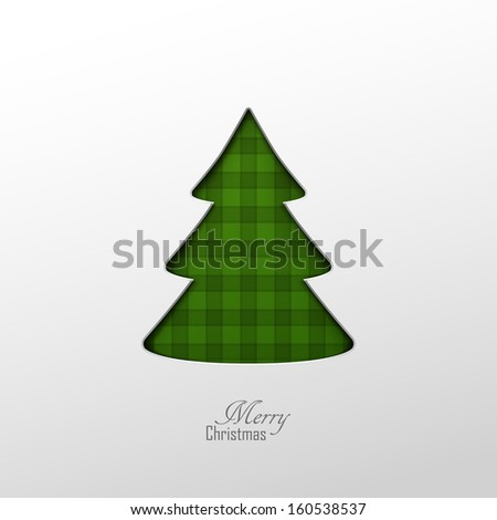 Bright vector christmas greeting card  - stock vector