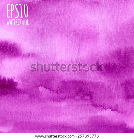 Bright vector pink, violet, purple and magenta gradient abstract watercolor background. - stock vector