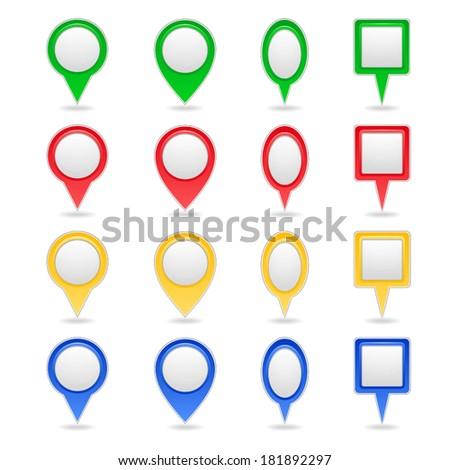 bright vector pointers - stock vector