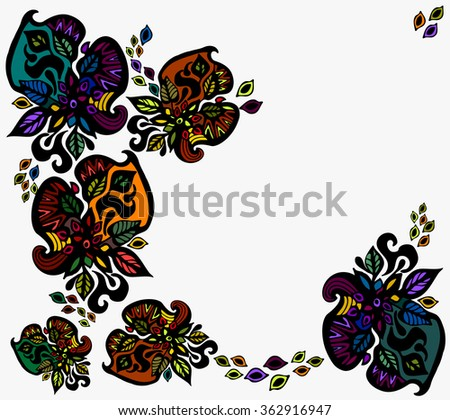 bright vintage background of flowers - stock vector