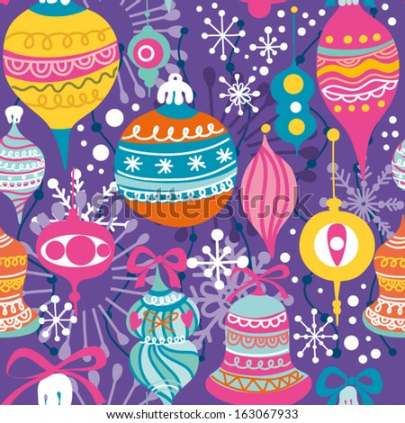 Bright vintage Christmas and New Year background in vector. Can be used for wallpapers, pattern fills, web page backgrounds, surface textures. - stock vector