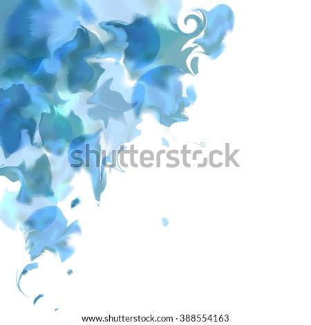 Bright watercolor background,smoke,steam, marble effect cover. Colourful template. Watercolor splatters. Vector - stock vector