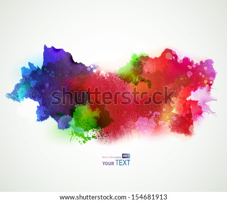 Bright watercolor stains  - stock vector