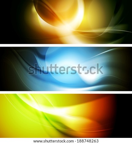 Bright wavy background. Gradient mesh eps10 - stock vector