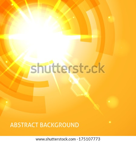 Bright yellow abstract background. - stock vector