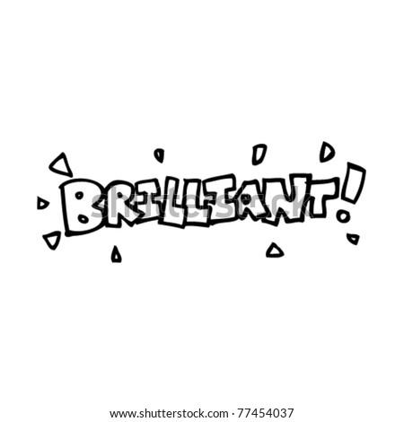 brilliant word cartoon design element - stock vector