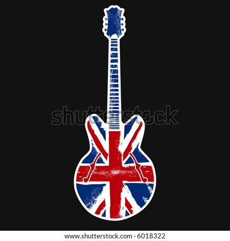 british classic rock n roll - stock vector