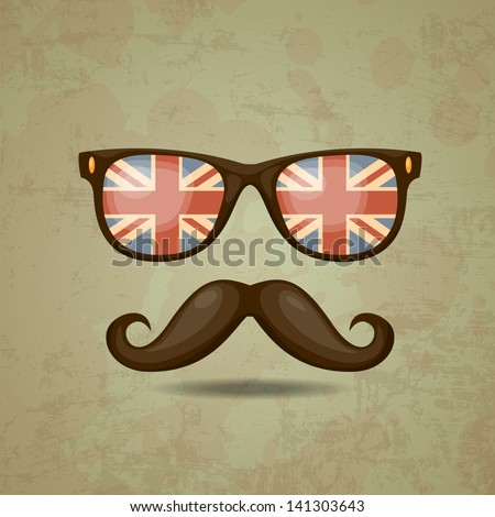 British hipster. Vector illustration - stock vector