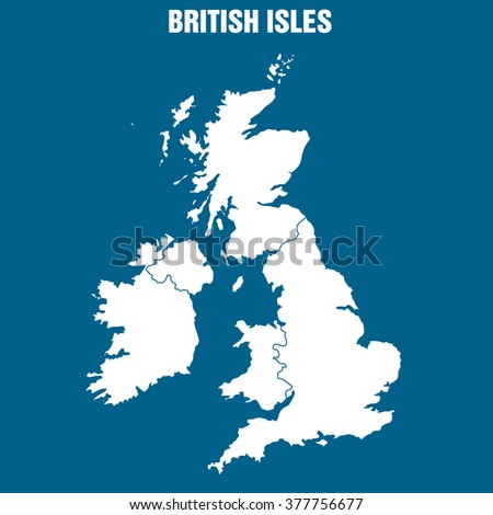 British Isles Map - Illustration - stock vector