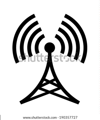 Broadcast Tower  - stock vector