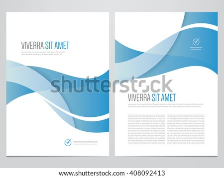 Brochure, annual report, magazine cover, flyer, poster vector template. Modern blue corporate design. - stock vector