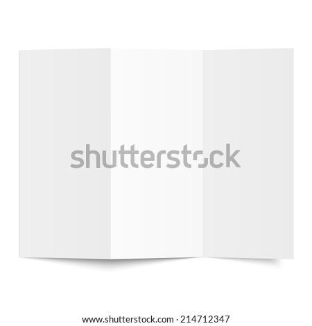Brochure - Blank sheet of white paper - folded - stock vector