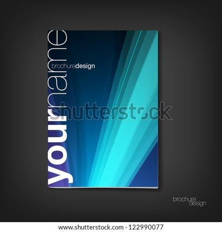 Brochure / booklet cover design template - stock vector