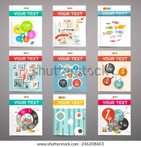 Brochure - Books - Flyers or Posters Covers Set - stock vector