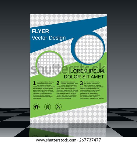 Brochure cover abstract design. Business flyer, poster, booklet vector template. - stock vector