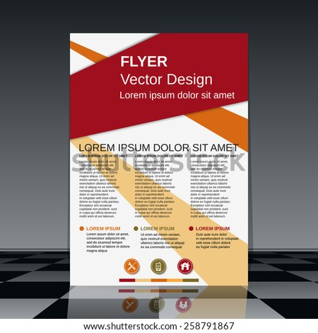 Brochure cover, booklet, flyer template. Abstract vector design. - stock vector