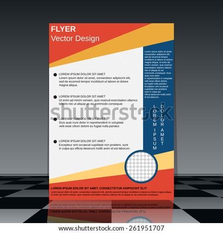 Brochure cover design. Flyer, booklet, poster vector template - stock vector