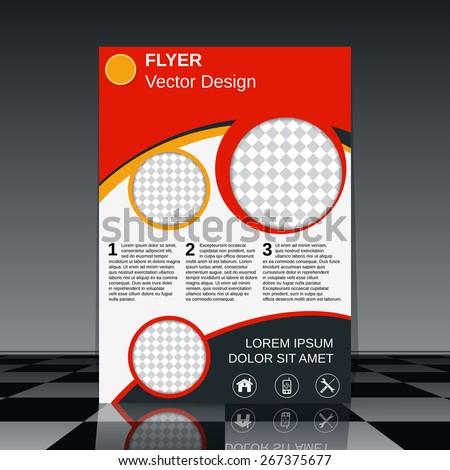 Brochure cover template. Business flyer, poster, booklet vector design. - stock vector