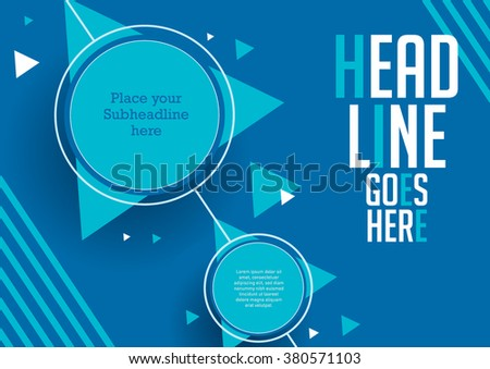 Brochure cover with background design/ Vector poster design/ Abstract background pattern/ Graphic design/ Book cover template/ Magazine layout with line art and geometrical pattern - stock vector