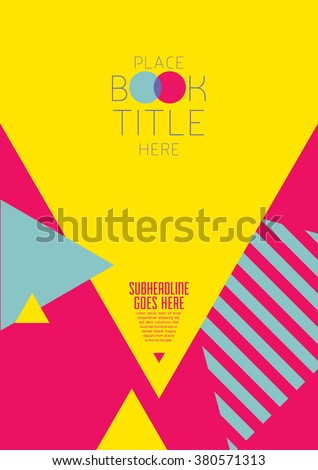Brochure cover with background design/ Vector poster design/ Abstract background pattern/ Graphic design/ Book cover template/ Fashion and cosmetic magazine layout/ Scrapbook design - stock vector