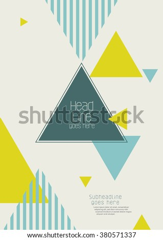 Brochure cover with background design/ Vector poster design/ Abstract background pattern/ Graphic design/ Book cover template/ Magazine layout with geometrical pattern - stock vector