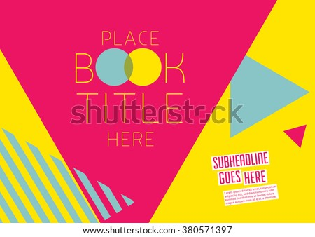 Brochure cover with background design/ Vector poster design/ Abstract background pattern/ Graphic design/ Book cover template/ Scrapbook design layout with geometrical pattern - stock vector