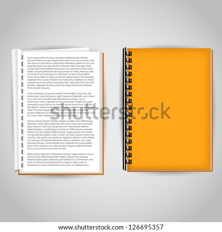 brochure covered and open design template - stock vector