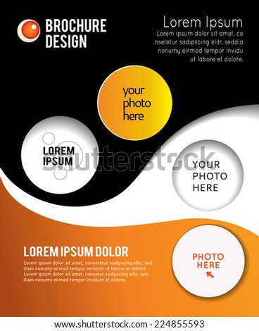 Brochure design content background. Design layout template  - stock vector