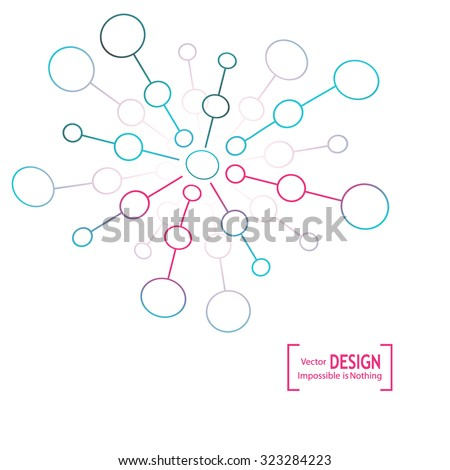 Brochure design DNA molecule structure on the abstract background. For annual reports, magazines, templates on modern sciences and new technologies - stock vector