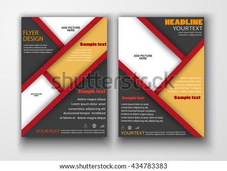 Brochure design. Flyer template for business, education, presentation, website, magazine cover.  Vector eps10. - stock vector